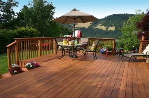 Beautiful redwood deck