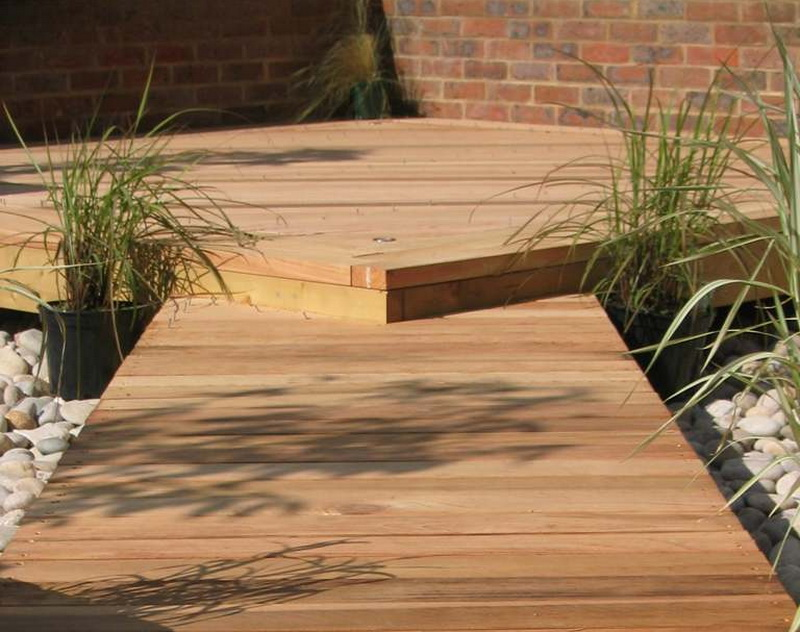 How to build a deck on the ground the basic woodworking for How to build a low deck