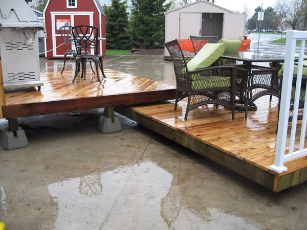Steps on how to build a floating deck the basic woodworking for Floating platform deck