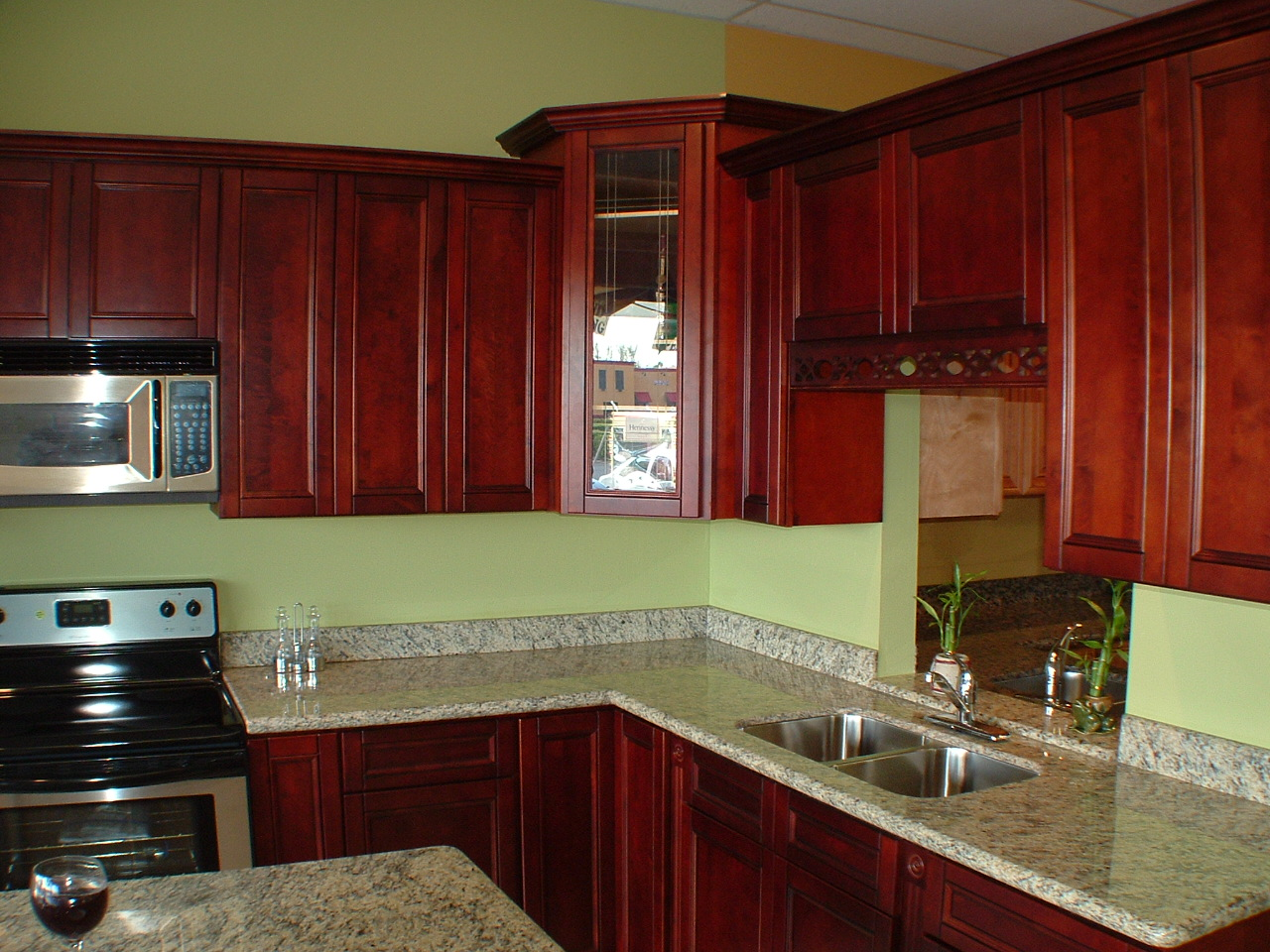 Cherry Wood Color Facts | Keystone Kitchen Cabinets ... |Red Cherry Kitchen Cabinets