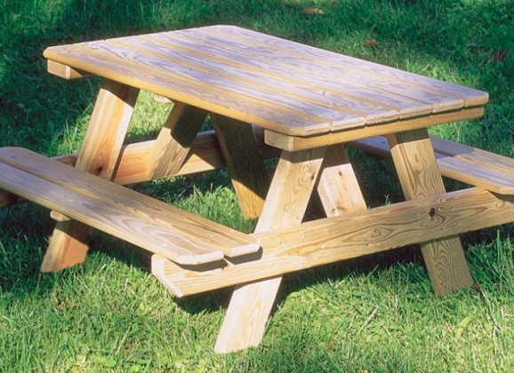 How To Make A Round Wooden Picnic Table, The... - Amazing Wood Plans