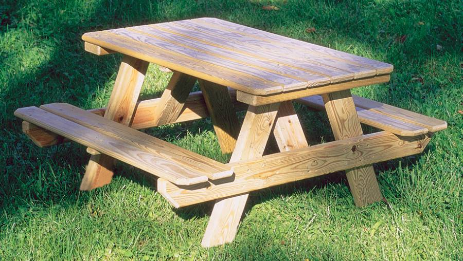 How to Make a Wood Picnic Table - The Basic Woodworking