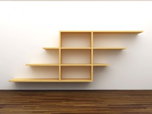 contemporary wood bookshelf