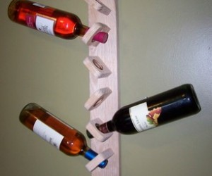 wine bottle holder with wine bottles