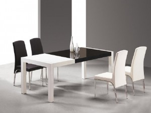 Black and White Dining Table