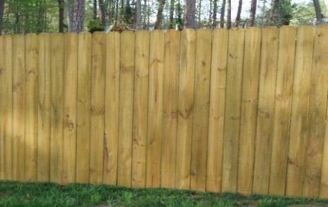 Solid Dog Ear Fence