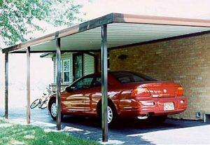lean-to carport