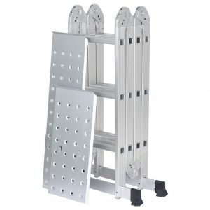 Finether 12.1 FT Heavy Duty Aluminum Multi Purpose Folding Extension Ladder